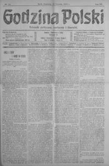 Godzina Polski : dziennik polityczny, społeczny i literacki 13 styczeń 1918 nr 13