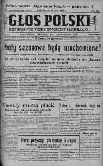 Głos Polski : dziennik polityczny, społeczny i literacki 24 maj 1929 nr 140