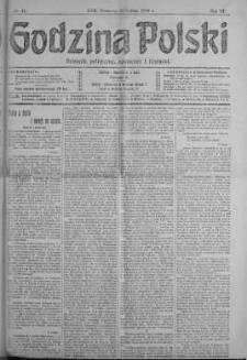 Godzina Polski : dziennik polityczny, społeczny i literacki 10 luty 1918 nr 41