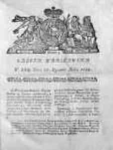 Gazeta Warszawska 1784, Nr 5