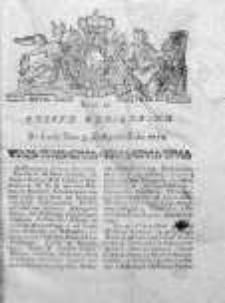 Gazeta Warszawska 1784, Nr 88