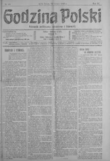 Godzina Polski : dziennik polityczny, społeczny i literacki 23 luty 1918 nr 53