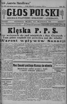 Głos Polski : dziennik polityczny, społeczny i literacki 18 czerwiec 1929 nr 165