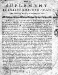 Gazeta Warszawska 1787, Nr 53, Suplement