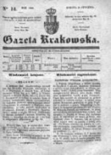 Gazeta Krakowska 1840, I, Nr 14