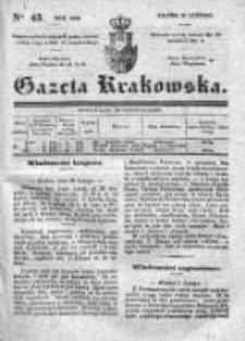 Gazeta Krakowska 1840, I, Nr 43