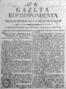 Korespondent Warszawski Donoszący Wiadomości Krajowe i Zagraniczne 1810, Nr 6