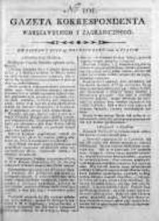 Gazeta Korrespondenta Warszawskiego y Zagranicznego 1800, Nr 101