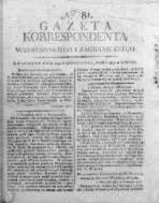 Korespondent Warszawski Donoszący Wiadomości Krajowe i Zagraniczne 1812, Nr 81