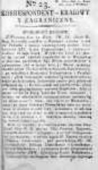 Korespondent Warszawski Donoszący Wiadomości Krajowe i Zagraniczne 1793, Nr 23