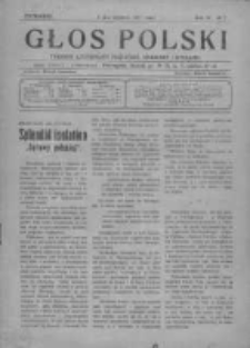 Głos Polski. Tygodnik ilustrowany polityczny, społeczny i literacki 1917, Nr 2