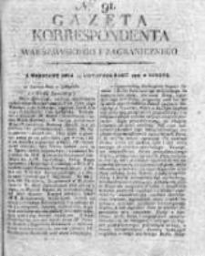 Gazeta Korrespondenta Warszawskiego i Zagranicznego 1818 II, Nr 91