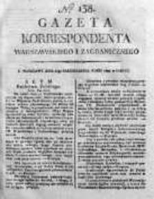 Gazeta Korrespondenta Warszawskiego i Zagranicznego 1820 IV, Nr 138