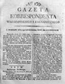 Gazeta Korrespondenta Warszawskiego i Zagranicznego 1820 IV, Nr 139