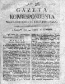 Gazeta Korrespondenta Warszawskiego i Zagranicznego 1821, Nr 26