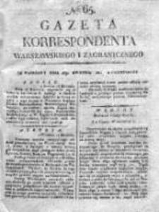 Gazeta Korrespondenta Warszawskiego i Zagranicznego 1821, Nr 65
