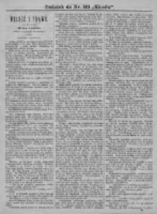 Kłosy 1876, T. XXII, Nr 551 - Dodatek