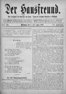 Der Hausfreund 2 kwiecień 1908 nr 14