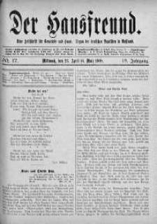Der Hausfreund 23 kwiecień 1908 nr 17