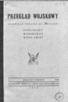 """Przegląd Wojskowy. Kwartalny Dodatek do """"Bellony"""" 1946. Nr 1"""