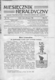 Miesięcznik Heraldyczny. 1911. Nr 7-8