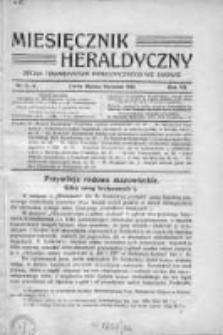 Miesięcznik Heraldyczny. 1914. Nr 3-4