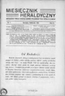 Miesięcznik Heraldyczny. 1930. Nr 7