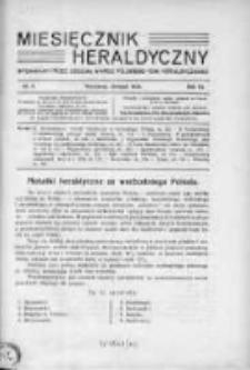 Miesięcznik Heraldyczny. 1930. Nr 8