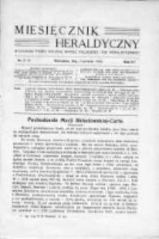 Miesięcznik Heraldyczny. 1936. Nr 5-6