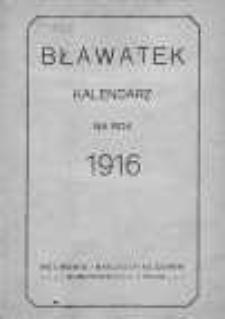 Bławatek. Kalendarz damski. 1916