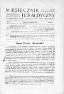 Miesięcznik Heraldyczny. 1937. Nr 3