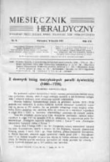Miesięcznik Heraldyczny. 1937. Nr 9