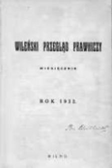Wileński Przegląd Prawniczy. 1932. Nr 1