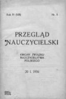 Przegląd Nauczycielski : organ Związku Nauczycielstwa Polskiego. 1936. Rok IV, nr 5