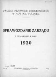 Sprawozdanie Zarządu z Działalności w Roku 1930