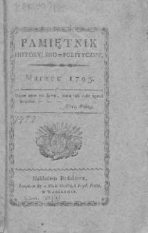 Pamiętnik Historyczno=Polityczny, 1795, marzec