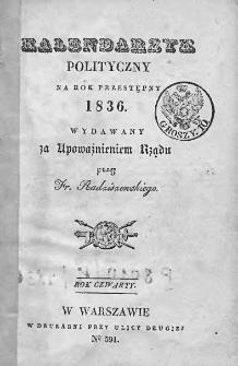 Kalendarzyk Polityczny na Rok 1836