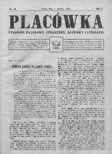 Placówka : tygodnik wojskowy, społeczny, naukowy i literacki. 1919, nr 18