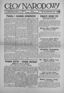 Głos Narodowy.1939, nr 118
