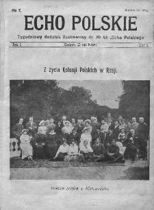 """Echo Polskie : tygodniowy dodatek ilustrowany do nr 44 """"Echa Polskiego"""". 1917."""
