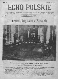 """Echo Polskie : tygodniowy dodatek ilustrowany do nr 51 """"Echa Polskiego"""". 1917."""