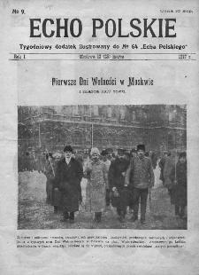 """Echo Polskie : tygodniowy dodatek ilustrowany do nr 64 """"Echa Polskiego"""". 1917."""
