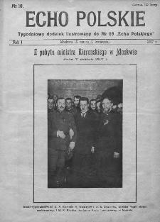 """Echo Polskie : tygodniowy dodatek ilustrowany do nr 69 """"Echa Polskiego"""". 1917."""