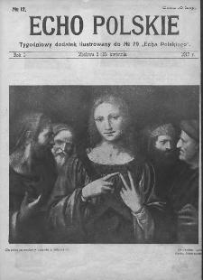 """Echo Polskie : tygodniowy dodatek ilustrowany do nr 79 """"Echa Polskiego"""". 1917."""
