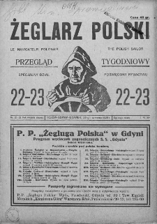 Żeglarz Polski. 1928. Nr 22-23