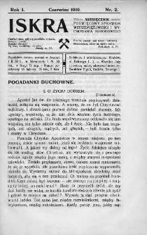 Iskra : miesięcznik poświęcony sprawom wstrzemięźliwości i wychowania narodowego. 1910, nr 2