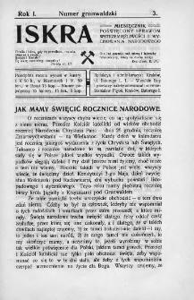 Iskra : miesięcznik poświęcony sprawom wstrzemięźliwości i wychowania narodowego. 1910, nr 3