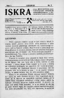 Iskra : miesięcznik poświęcony sprawom wstrzemięźliwości i wychowania narodowego. 1910, nr 7