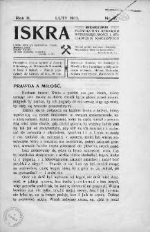 Iskra : miesięcznik poświęcony sprawom wstrzemięźliwości i wychowania narodowego. 1911, nr 2