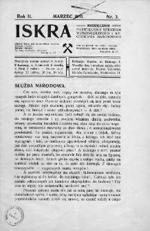 Iskra : miesięcznik poświęcony sprawom wstrzemięźliwości i wychowania narodowego. 1911, nr 3